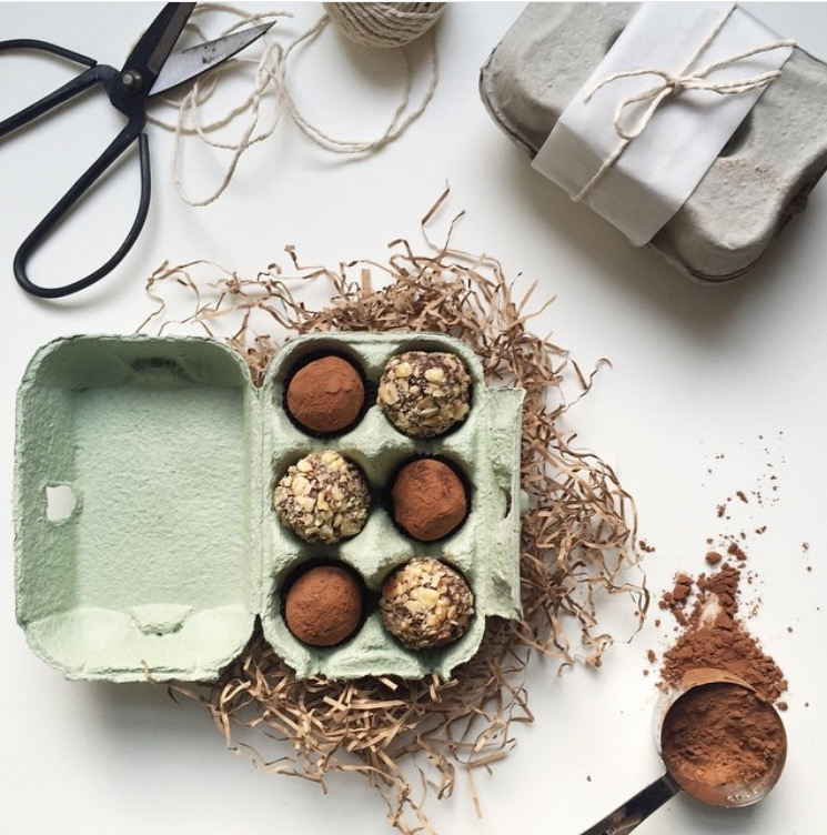 Easter egg chocolate truffles