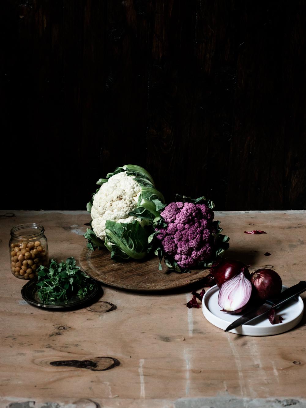 Roasted Cauliflower & Chickpea Salad