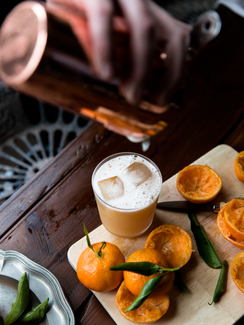 Clementine & Cinnamon Whiskey Sour