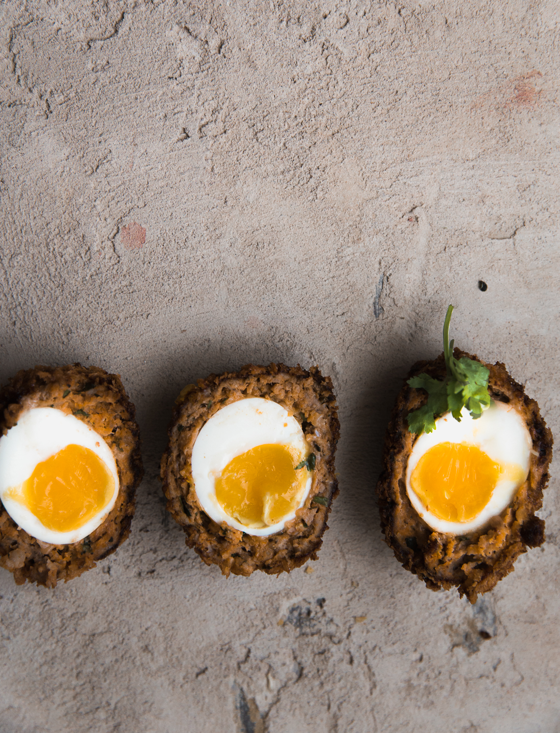 Sriracha Scotch Eggs