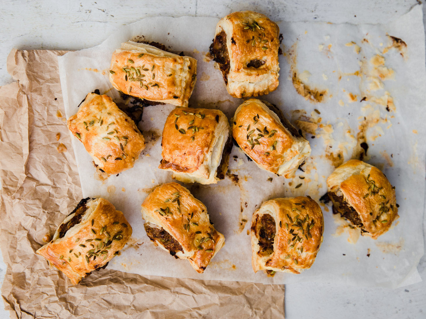 Fennel & Garlic Sausage Rolls