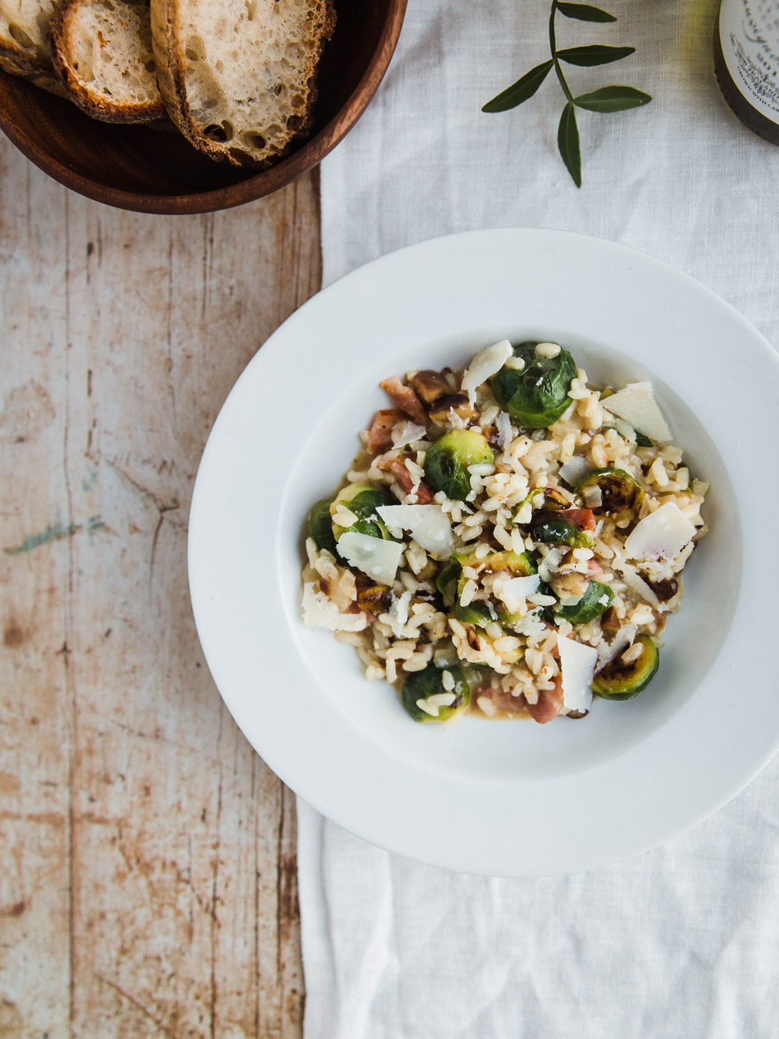 Sprout, Bacon & Chestnut Risotto