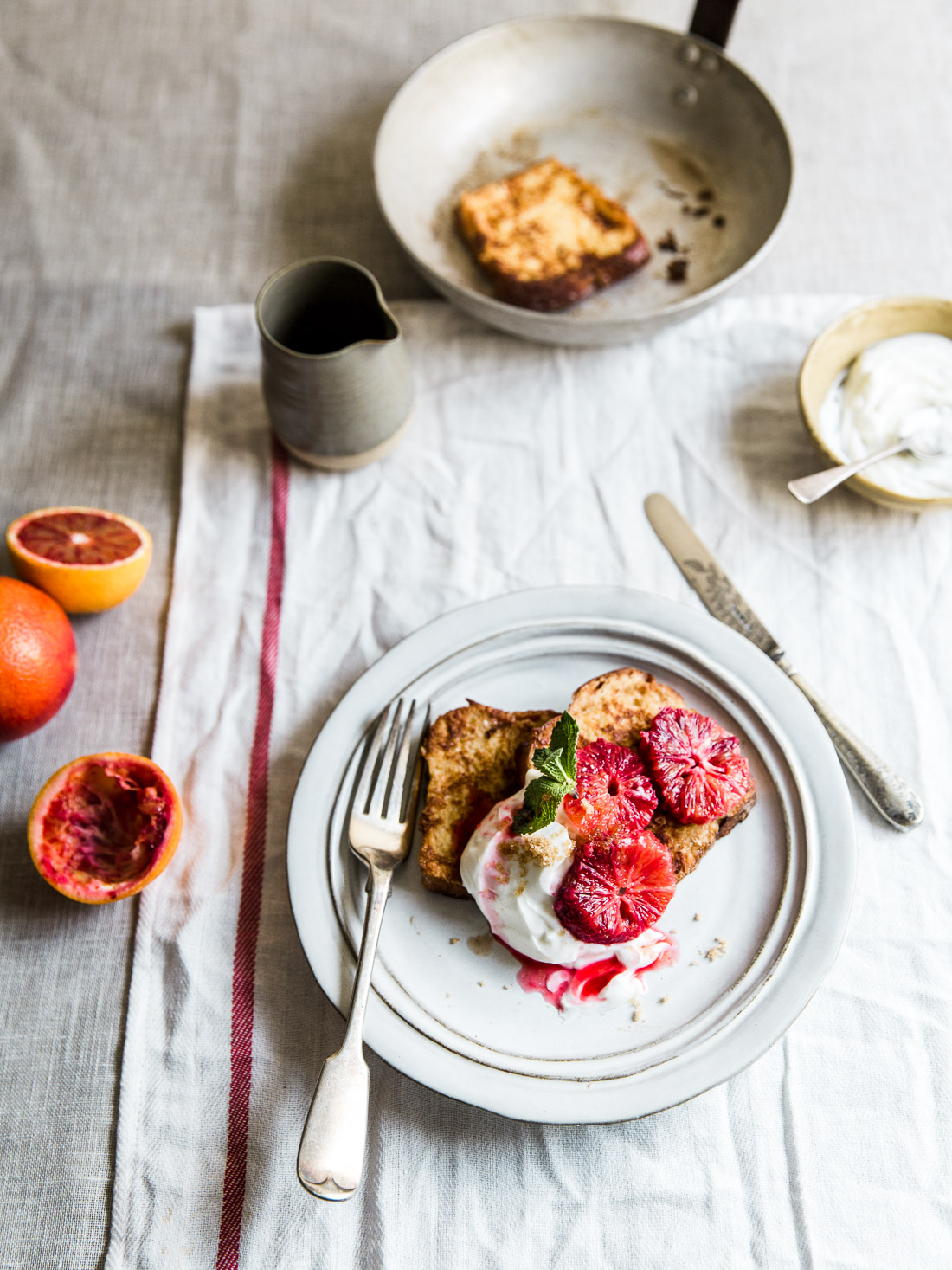 Blood Orange Brioche French Toast
